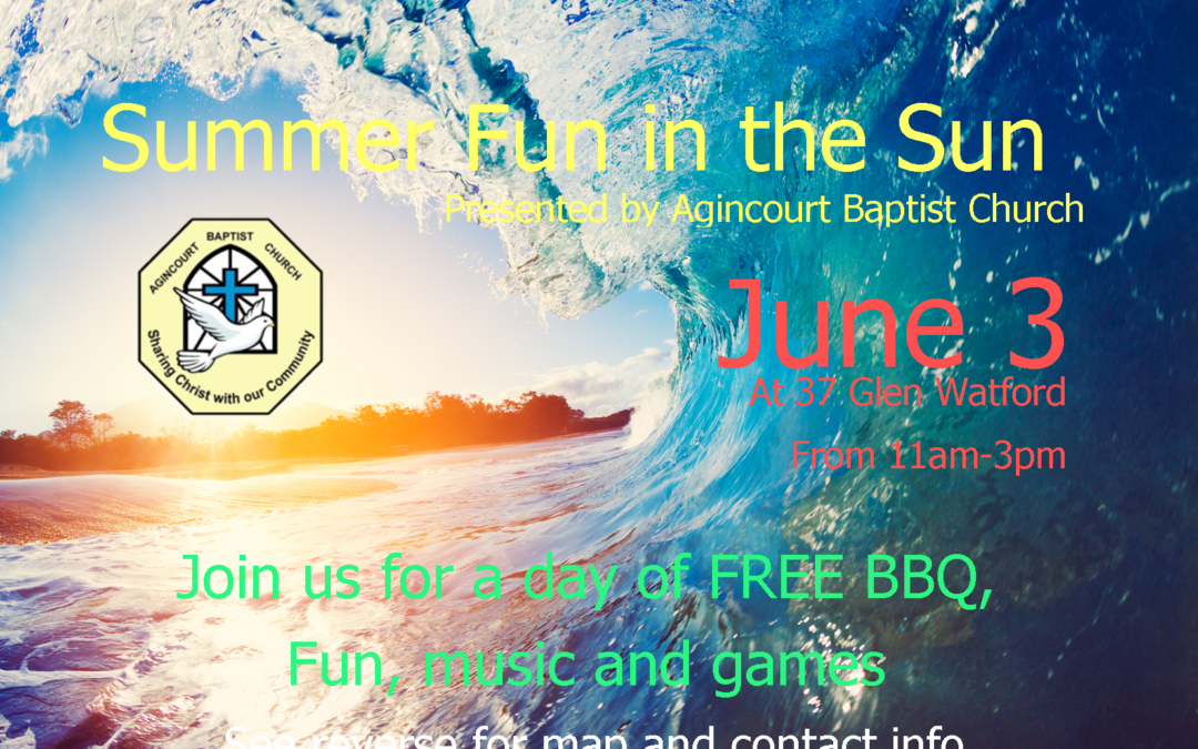 "ABC ""Summer Fun in the Sun""  – Saturday June 3, 2017 (11am – 3pm)"