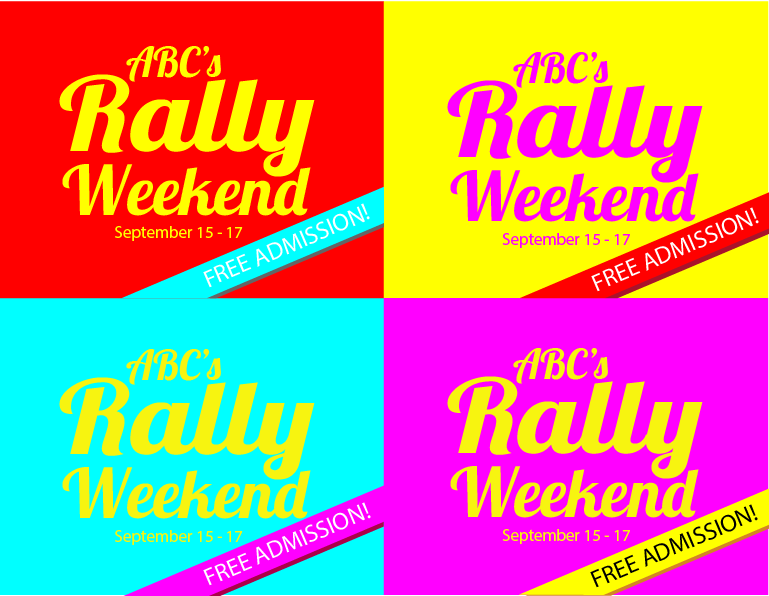 Rally Weekend poster